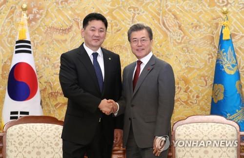 韓蒙領導人將舉行視頻會談