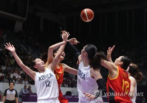 亞運女籃韓朝聯隊不敵中國摘銀