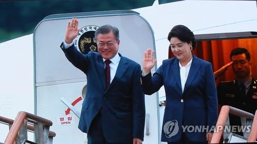 詳訊:文在寅結束訪朝飛抵首爾機場