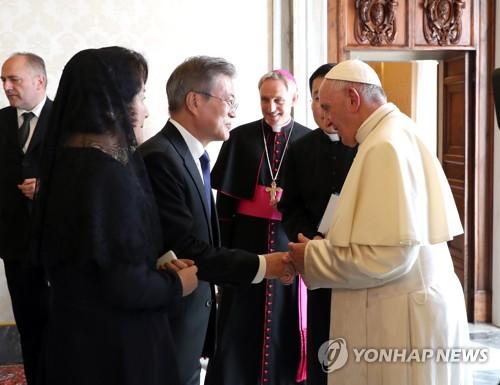 教皇向文在寅傳遞口信祈禱半島和平繁榮