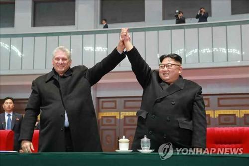 金正恩致電祝賀卡內爾當選古共中央第一書記