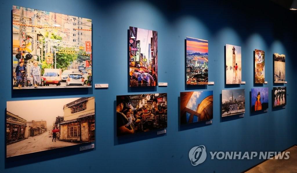 """2月18日下午,""""2019歡樂春節——韓中旅遊攝影展""""在首爾中國文化中心舉行。(韓聯社)"""
