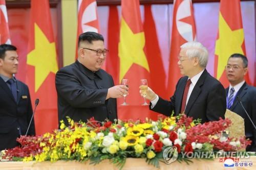 金正恩就越南獨立74週年向越南主席阮富仲致賀電