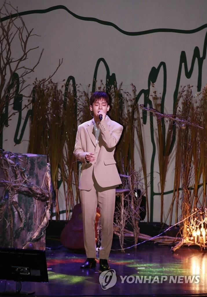 EXO主唱CHEN(韓聯社)