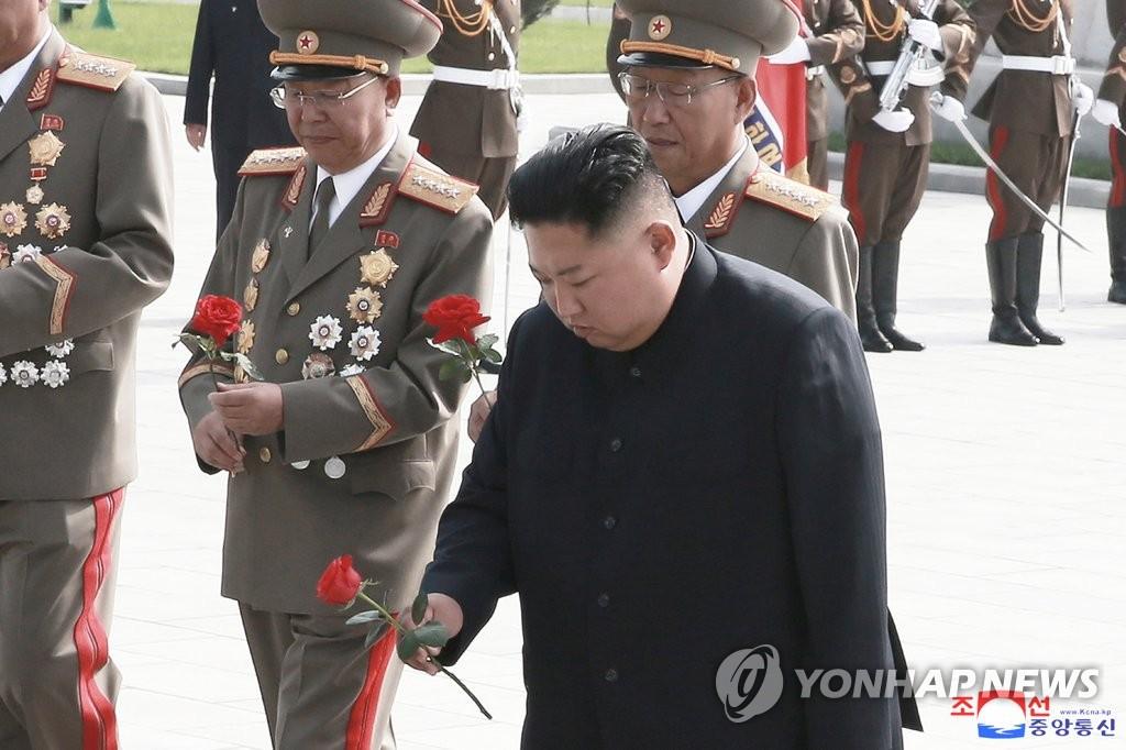 金正恩于韓戰停戰協定簽訂日參謁烈士墓