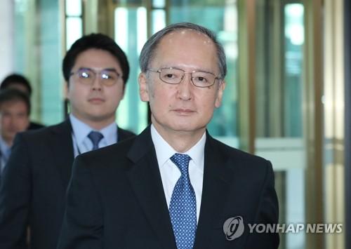 日本大使接收終止軍情協定通知公文