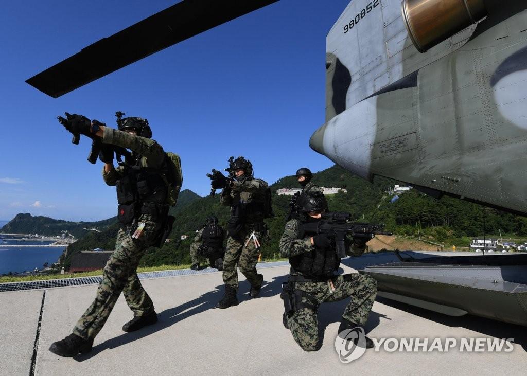 韓軍獨島防禦演習今落幕