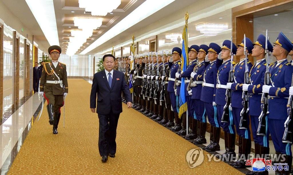 朝鮮第二號人物崔龍海拜會亞塞拜然總統阿利耶夫