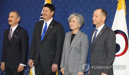 韓外長接見美國副國務卿和國務助卿