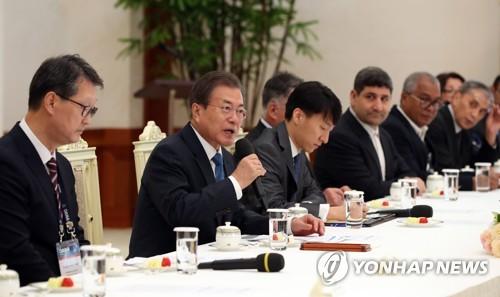 詳訊:文在寅接見韓聯社等亞通組織成員社代表