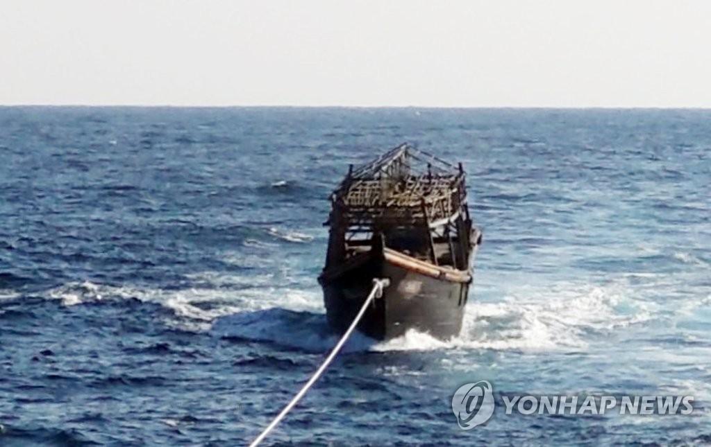 詳訊:韓政府送回朝鮮殺人嫌犯偷渡船