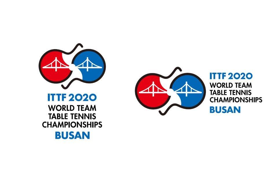 2020釜山世界乒乓球錦標賽標誌 大賽組委會供圖(圖片嚴禁轉載複製)