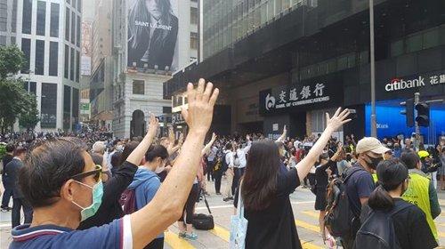 中國駐韓大使館發文談香港局勢