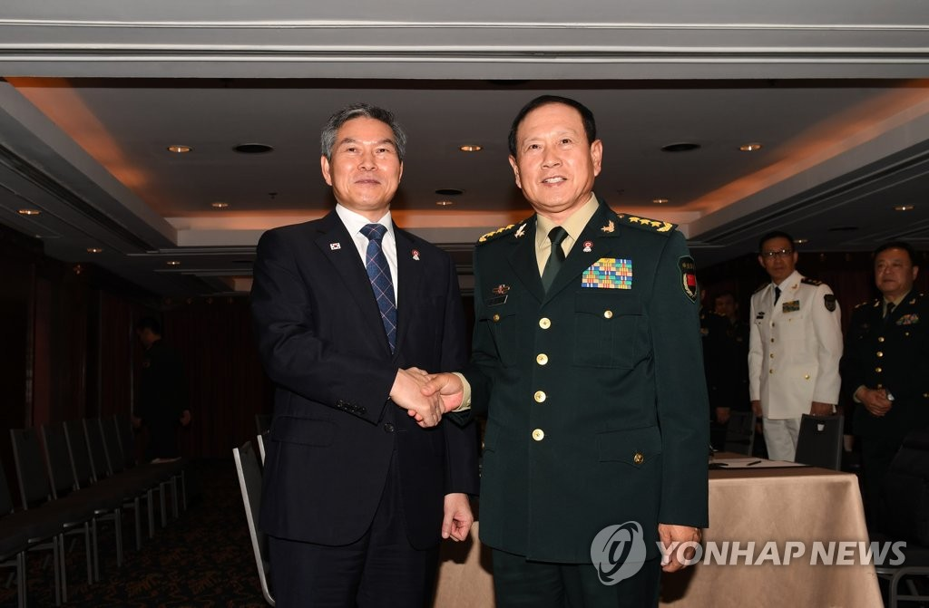 韓中國防部長通電話商討抗疫