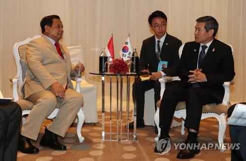 韓印尼防長會談商定加強軍工合作