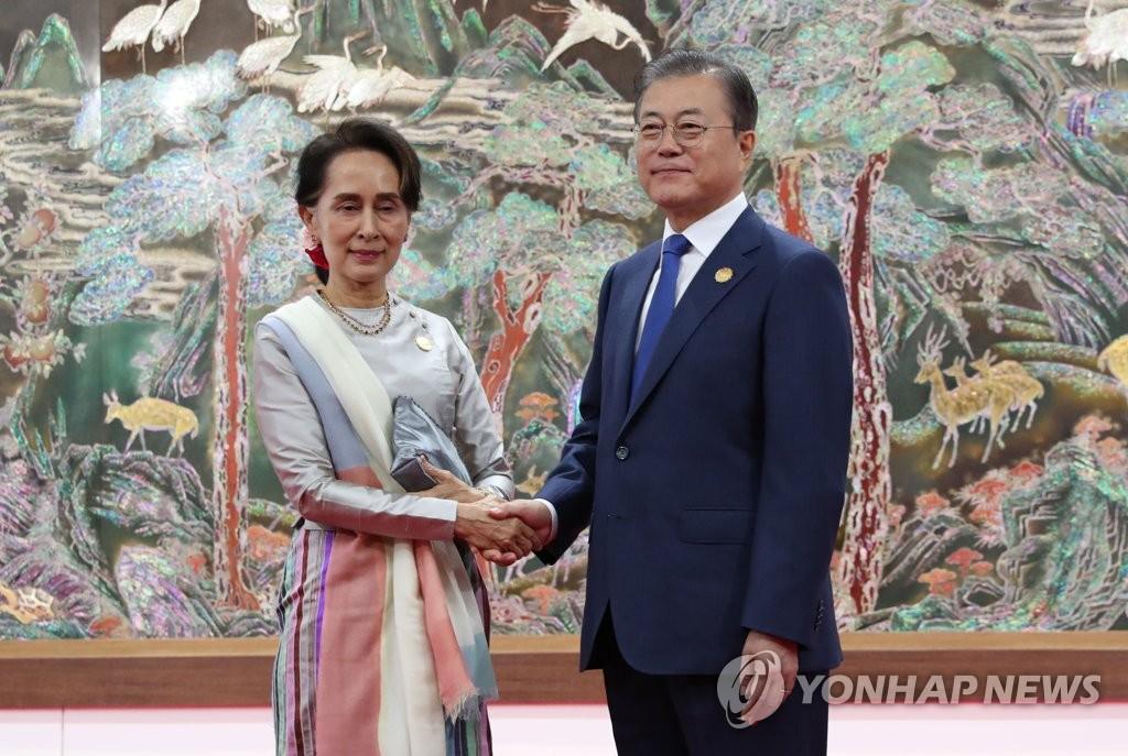 文在寅和緬甸領導人互換信函商定攜手抗疫
