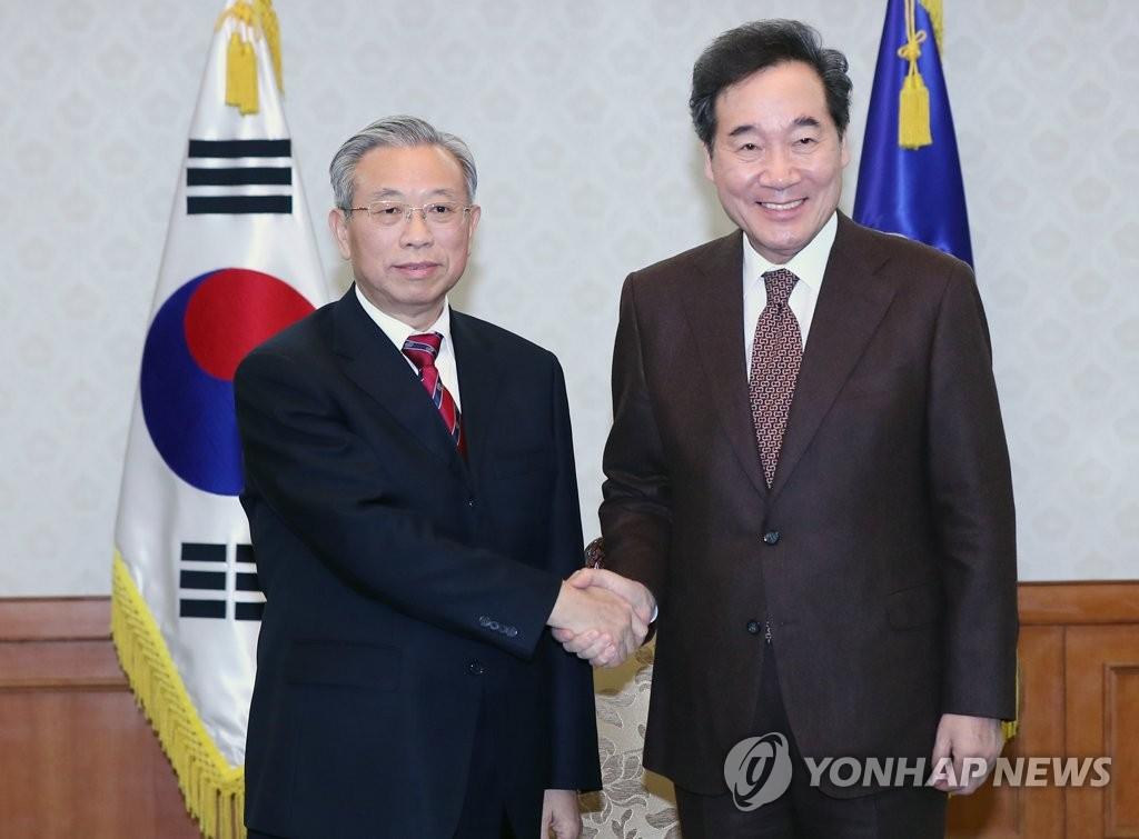 韓總理會見山東省委書記