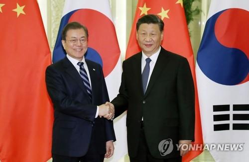 簡訊:文在寅在北京同習近平舉行會談
