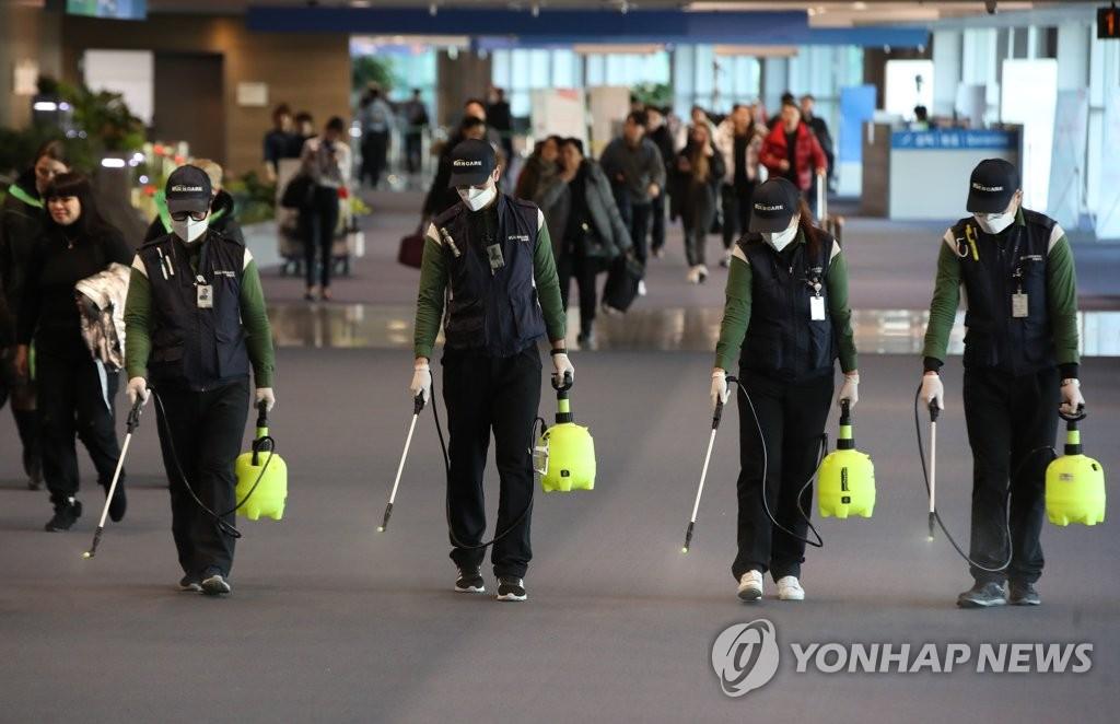 仁川機場節前繃緊神經防範新型肺炎