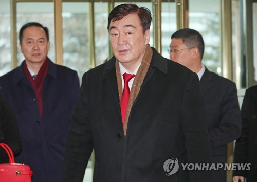 中國新任駐韓大使感謝南韓助力抗擊新冠病毒疫情