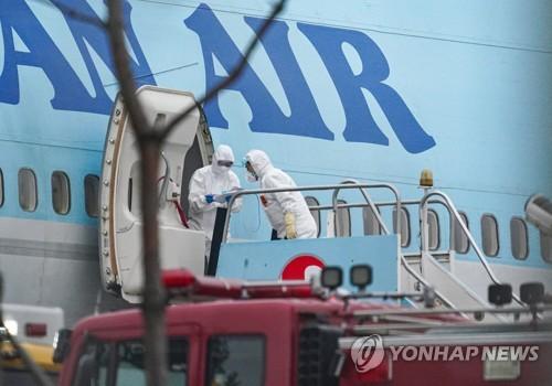 詳訊:南韓第二架撤僑包機返抵首爾 接回330余人