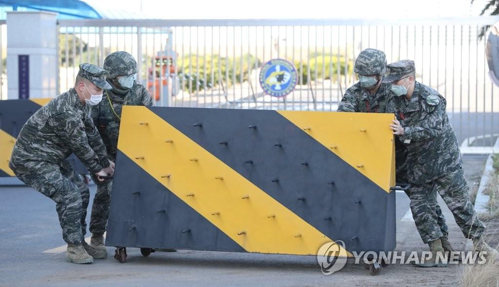 韓軍部隊防控疫情
