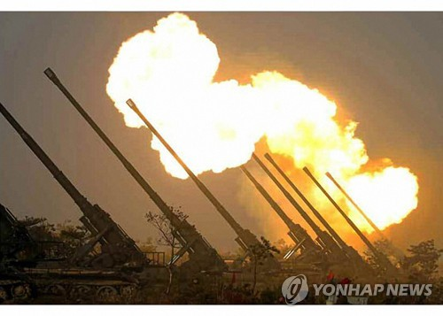 詳訊:金正恩指導前線炮兵部隊火力打擊訓練