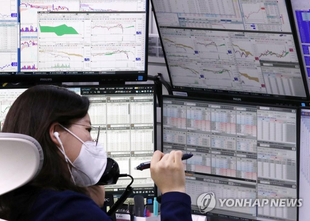 南韓股市總市值縮水 盤中失守5.5萬億元