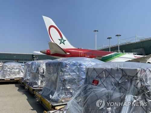 運往摩洛哥的醫療物資整裝待發