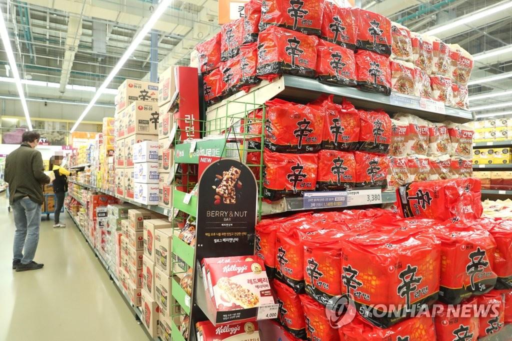 南韓第三季速食麵和泡菜出口雙雙大增