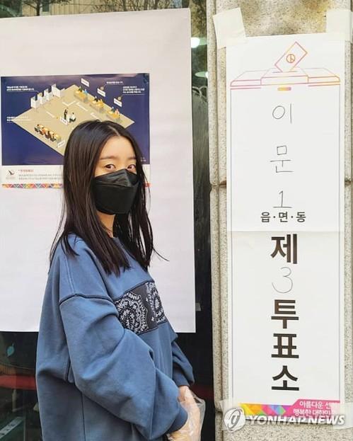 惠林參加議員選舉投票
