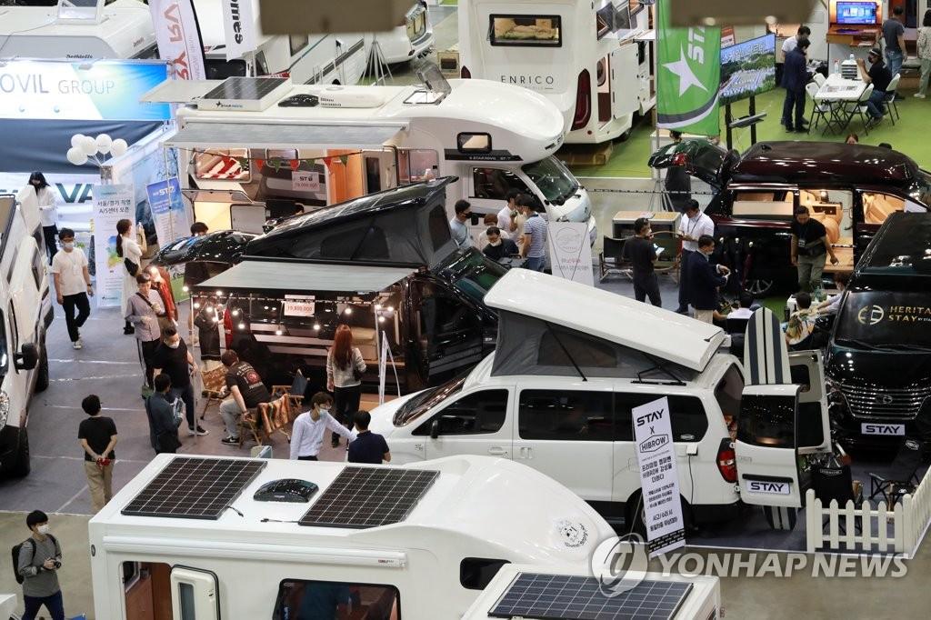 資料圖片:露營車 韓聯社