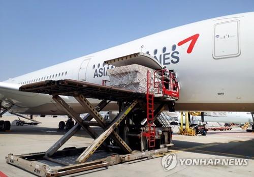 韓安排包機赴日德解決企業物流難題