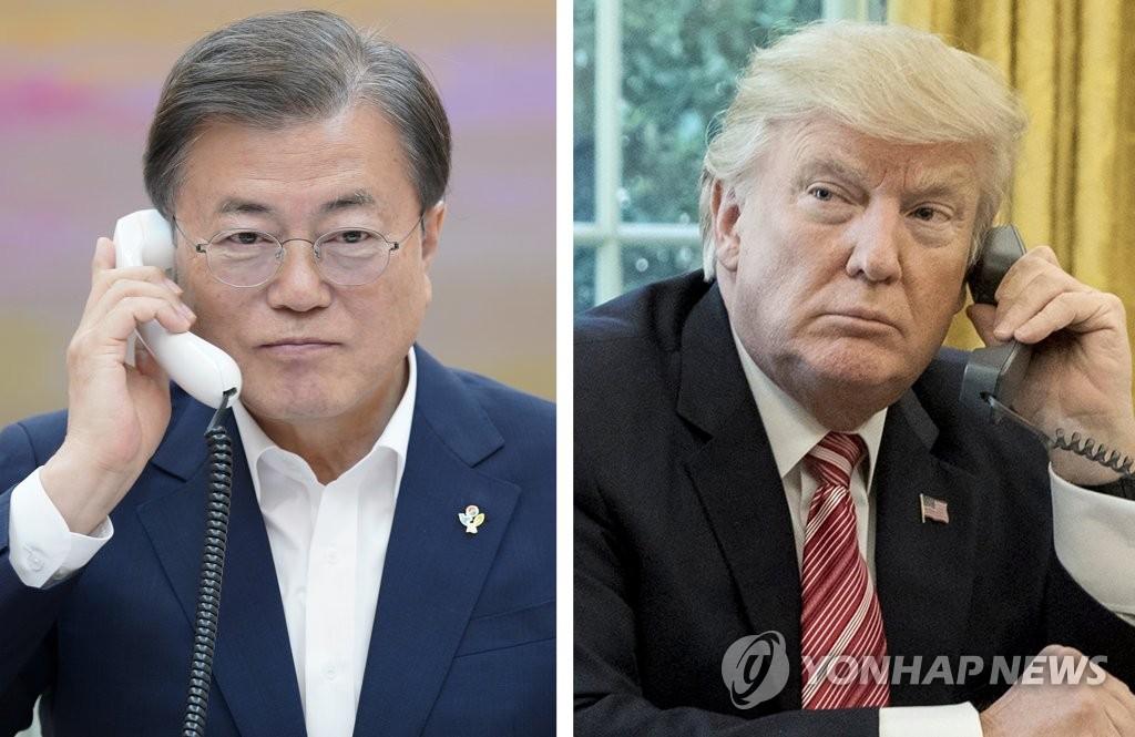 韓美領導人通電話