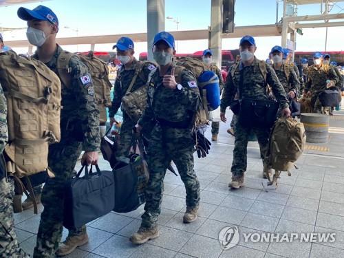 南韓維和部隊啟程赴南蘇丹