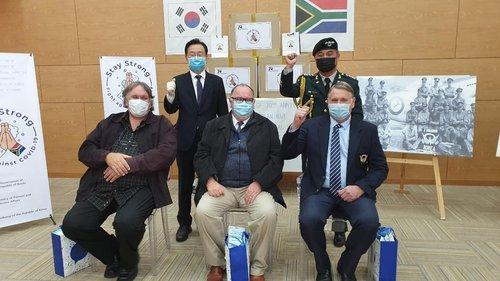 南韓向南非參戰老兵贈送口罩