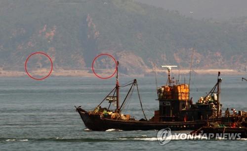 韓軍再次觀測到朝方海岸炮炮門打開