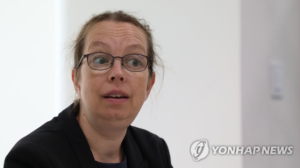 6月22日,聯合國人權高專辦駐首爾代表西涅·鮑爾森接受韓聯社專訪。 韓聯社