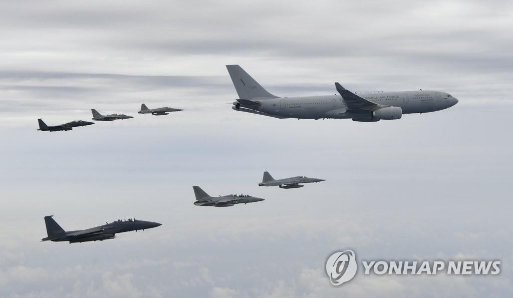 韓軍首派空中加油機執行駐外部隊交接任務