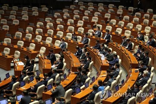 韓執政黨獨攬國會常委會全席