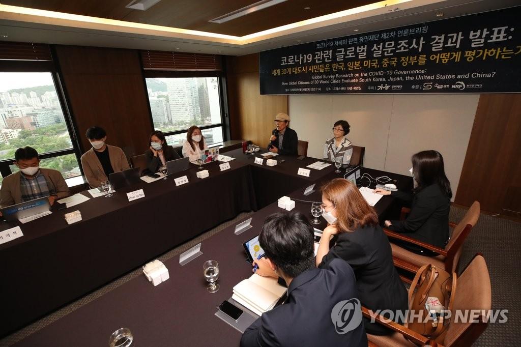 調查:全球高度評價南韓政府抗疫能力