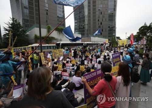 首爾鐘路區禁止少女像周邊集會嚴防疫情擴散