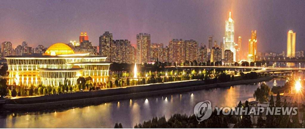 朝鮮平壤夜景