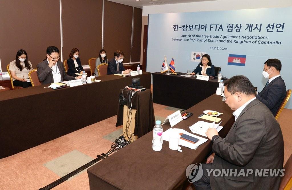南韓與柬埔寨線上舉行自貿協定第一輪談判