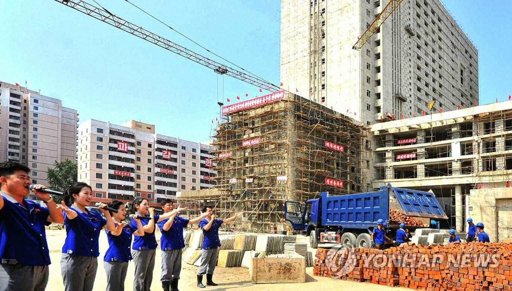 朝媒報道平壤醫院項目施工進展