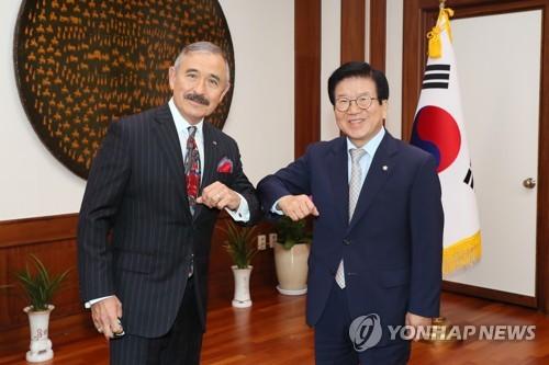 南韓國會議長會見美國大使