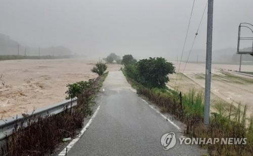 韓中部地區普降暴雨