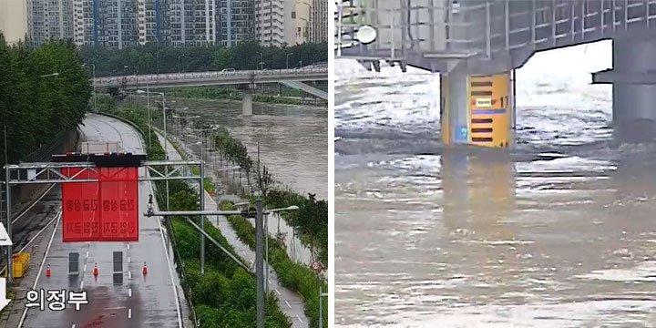 首爾道路因暴雨管制