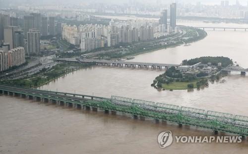 暴雨後的漢江