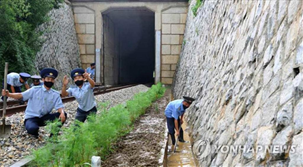 朝鮮檢查鐵路提前防洪